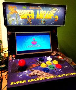 Bartop retro video game cabinet