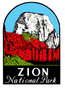 decal of Zion national park