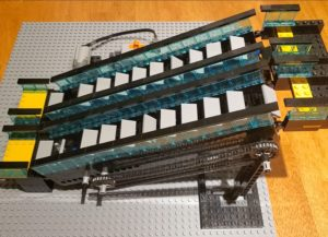 LEGO escalator right side view
